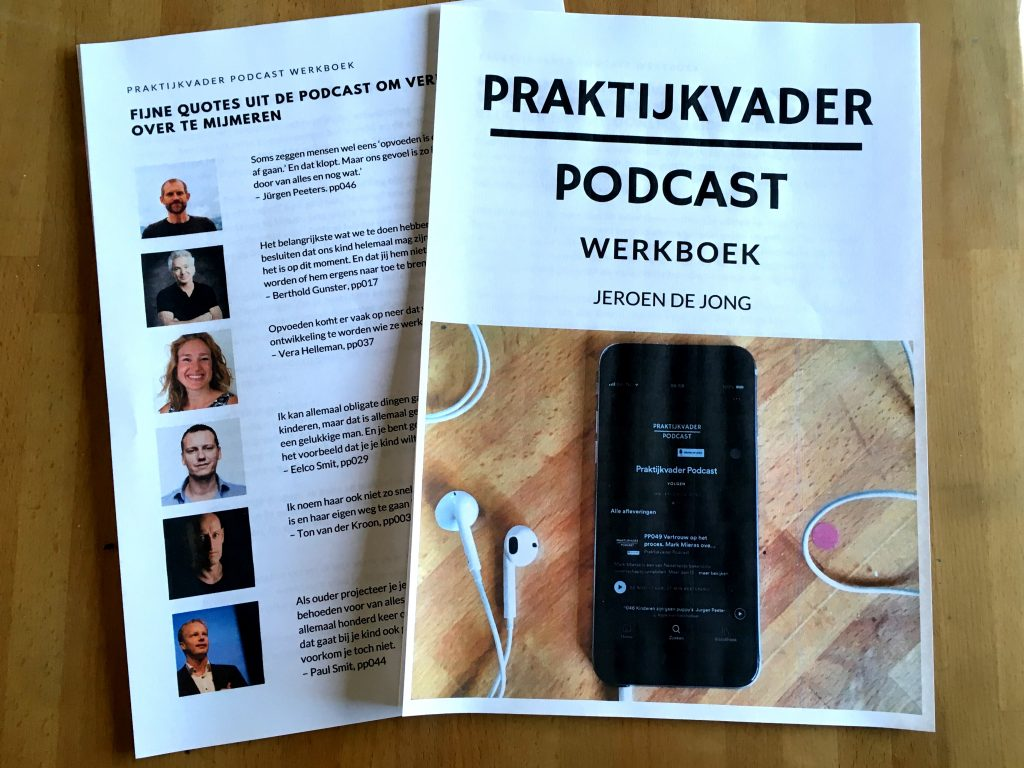 praktijkvader podcast werkboek jeroen de jong